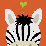 Peek-a-Boo Zebra Poster by Yuko Lau