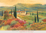 September in Tuscany II Print by David Jackson