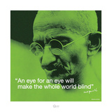 Mahatma Gandhi – Blind World Kunst af Unknown