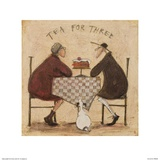 Tea for Three (Checkered Tablecloth) Posters by Sam Toft