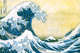 The Great Wave Off Kanagawa Plakater av Katsushika Hokusai