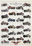 The Harley-Davidson Legend Posters by Libero Patrignani
