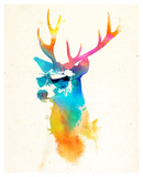 Sunny Stag Posters by Robert Farkas