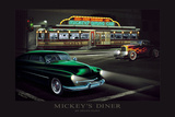 Mickey's Diner Print by Helen Flint