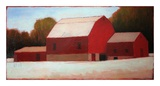 Red Barn Times Three Poster von Tracy Helgeson