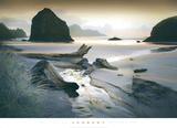 She Sleeps in the Sand Print by William Vanscoy