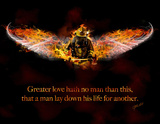 No Greater Love (Fireman) Posters by Jason Bullard