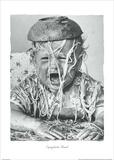 Spaghetti Head Print by  Unknown