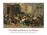 The Bulls and Bears in the Market Poster by William H. Beard
