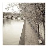 Sepia-Promenade Seine 2 Posters by Alan Blaustein