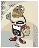 Retro Music Playlist I Print by Lanre Adefioye