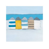 Summer Beach Huts Poster by Heidi Langridge