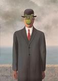 El hijo del hombre Láminas por Rene Magritte