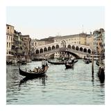 Ponte Rialto con Gondolas Posters by Alan Blaustein