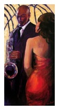 Sax Seduction Poster van Monica Stewart