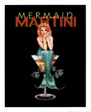 Mermaid Martini Posters by Ralph Burch