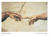 The Creation of Adam Prints by  Michelangelo