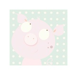 Pinky Piggy Print by Nicola Evans