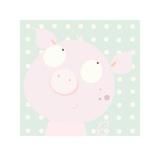 Pinky Piggy Lámina por Nicola Evans