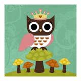 Princess Owl Poster van Nancy Lee