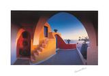Escalera soleada Lámina por George Meis