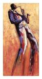 Sax Solo Print by Monica Stewart