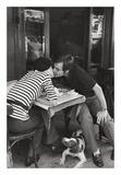 Sidewalk Café, Boulevard Diderot Poster par Henri Cartier-Bresson