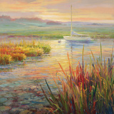 Sunset Marsh Art by Roberto Lombardi