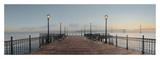 Pier with Bay Bridge Vista Poster af Alan Blaustein