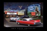 Sky View Drive-In Posters by Helen Flint