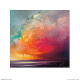 Sunset Cumulus Study 1 Láminas por Scott Naismith