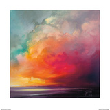 Sunset Cumulus Study 1 Print by Scott Naismith
