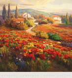 Poppy Fields Prints by Roberto Lombardi