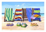 Sandals and Seats Poster by Scott Westmoreland