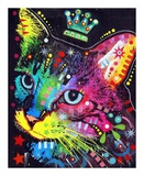 Thinking Cat Crowned Prints by Dean Russo