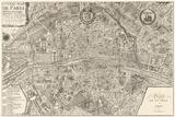 Plan de la Ville de Paris, 1715 Posters by Nicolas De Fer