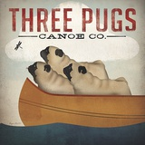Three Pugs in a Canoe Posters by Ryan Fowler