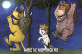 Where the Wild Things Are - Under Moon Art by Maurice Sendak