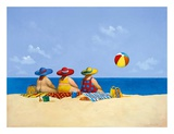 Three Ladies Sunning Prints by Michael Paraskevas