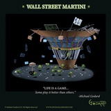 Wall Street Martini Prints by Michael Godard