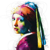 Vermeer Pop Prints by Patrice Murciano