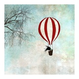Up In The Air Poster by  Majali