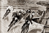 Women Track Cyclists, 1898 Prints by  Presse 'E Sports