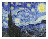 Stjärnklar natt Affischer av Vincent van Gogh