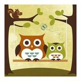 Nancy Lee - Dvě sovy na houpačce Plakát