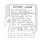 Report Card Donald Trump - Cartoon Giclee Print by Kim Warp