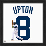 Justin Upton, Tigers - Framed photographic representation of the player's jersey Framed Memorabilia