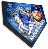Mike Moustakas Home Plate Plaque Framed Memorabilia