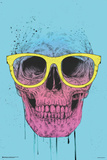 Pop Art Skull With Glasses Posters