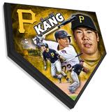 Jung Ho Kang Home Plate Plaque Framed Memorabilia